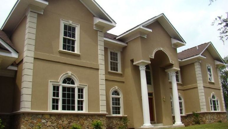 stucco house exterior
